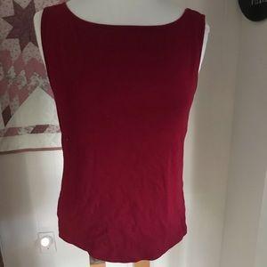 Red sleeveless top GAP large